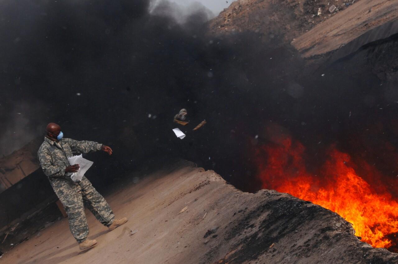 Burning of Uniforms
