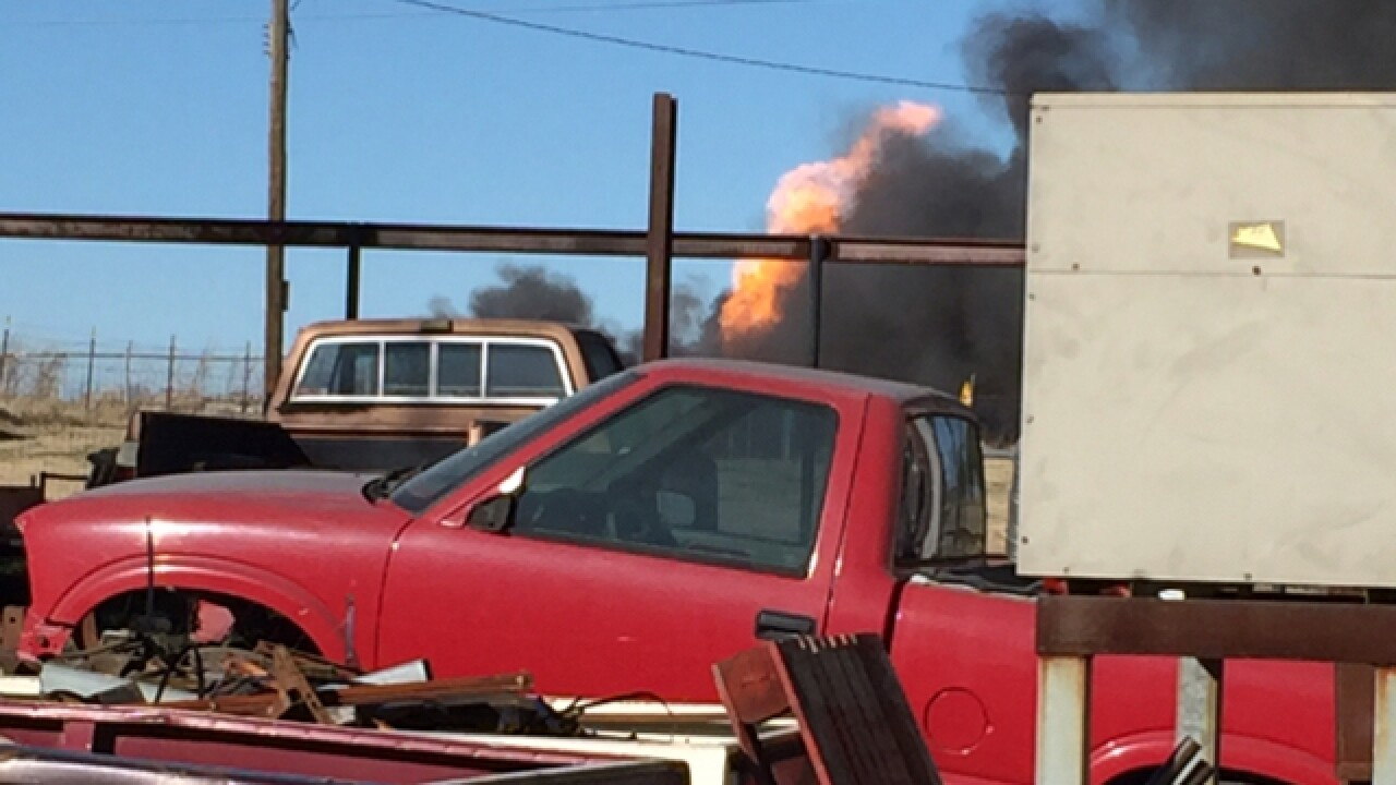VIDEO: School bus fire, no injuries reported