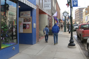 Downtown Helena shoppers on Black Friday