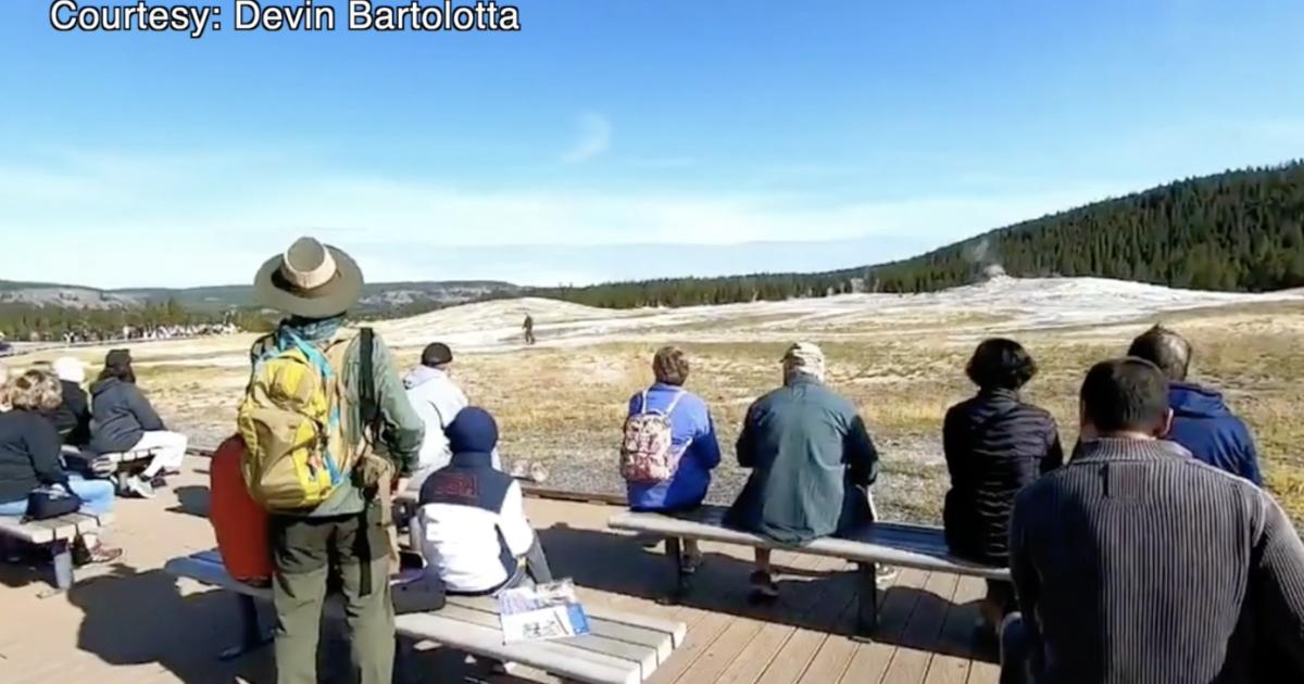 VIDEO: Man walks within feet of Old Faithful in Yellowstone