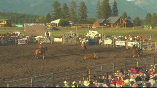 Two steer wrestlers enjoy hometown crowd at Bigfork PRCA Rodeo