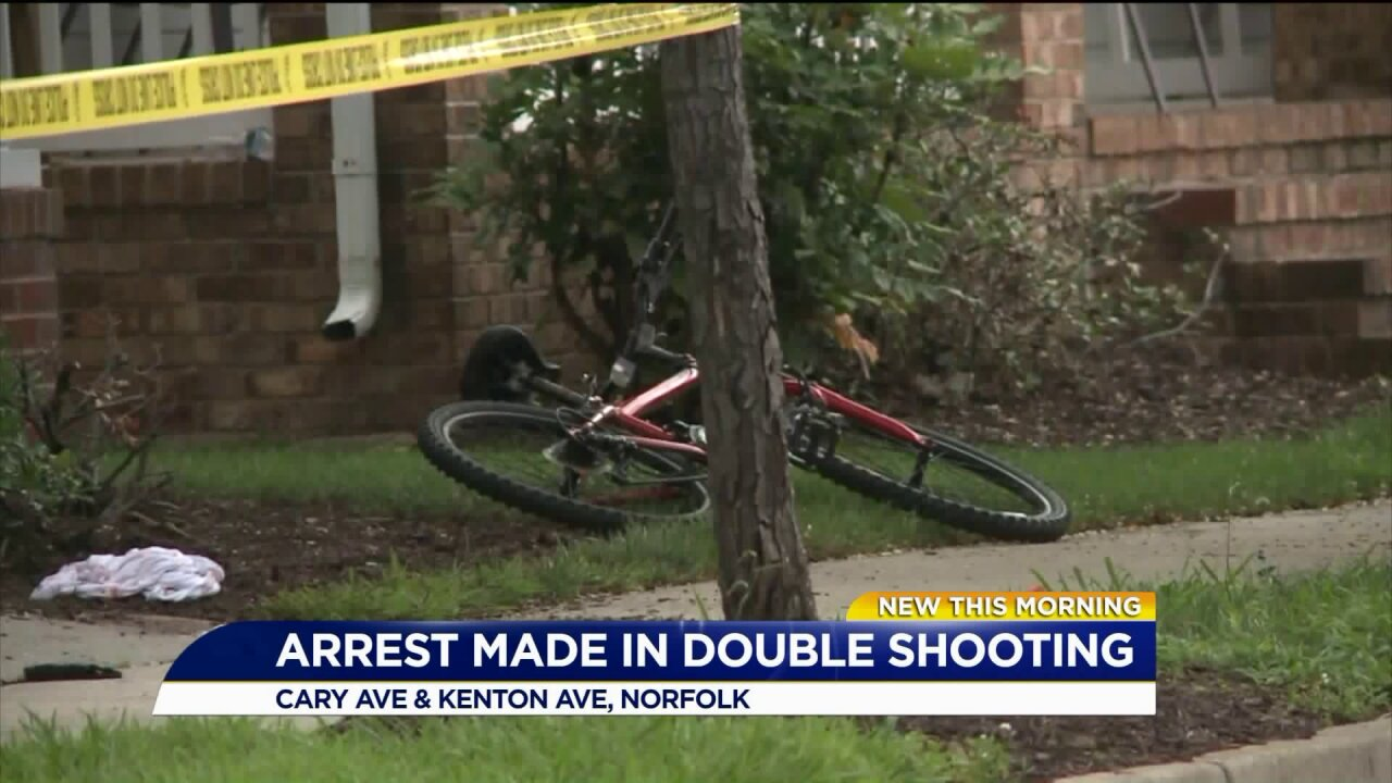 14-year-old boy arrested in Norfolk doubleshooting