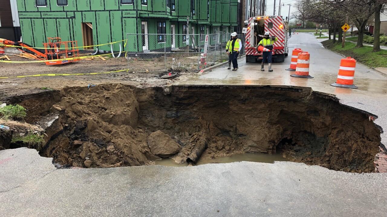 Sinkhole on W. 70th St.