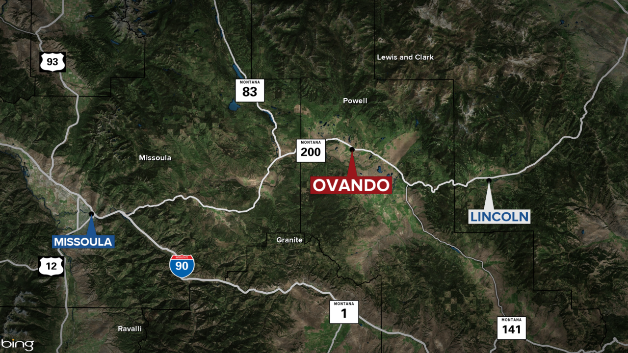 Ovando Fatal Grizzly Bear Attack Map