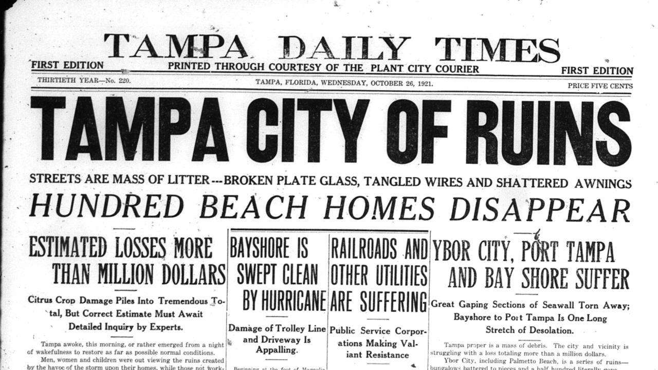 Tampa Daily Times Oct. 1921