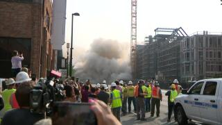 Carmichael Towers East implosion