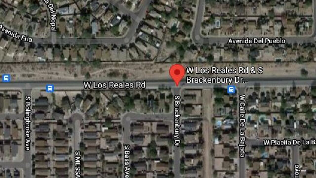 Los Reales Road and Brackenbury Drive was closed in all directions Wednesday due to a wreck.