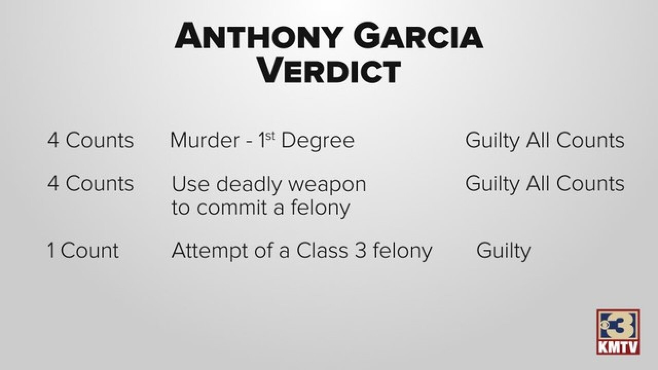Verdict reached in Anthony Garcia trial