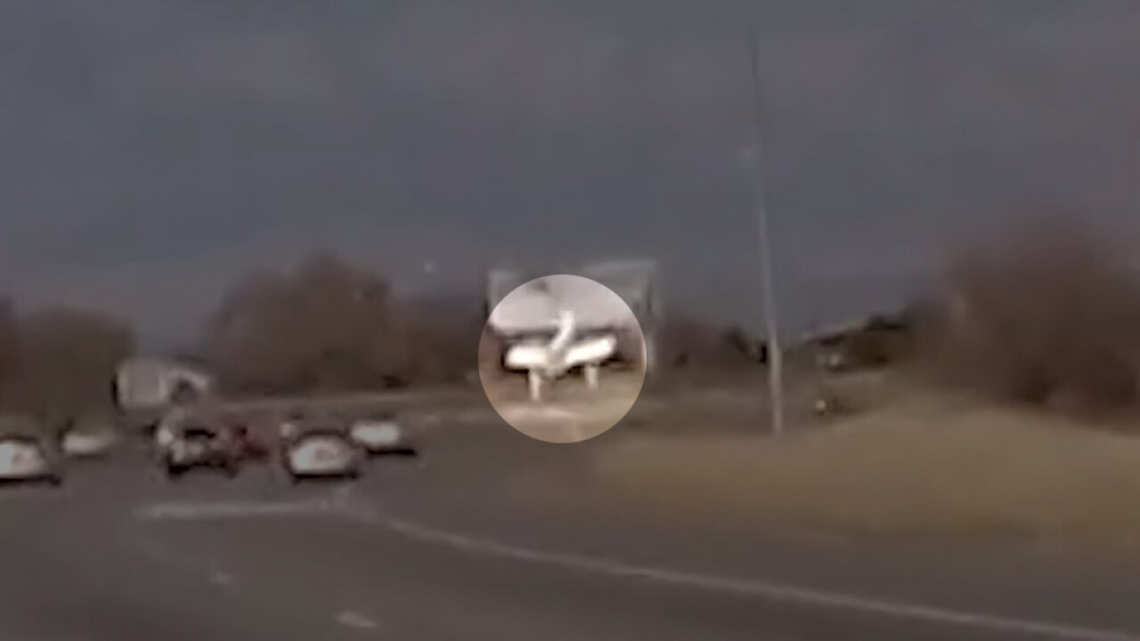 WATCH: Roy plane crash captured on dash cam