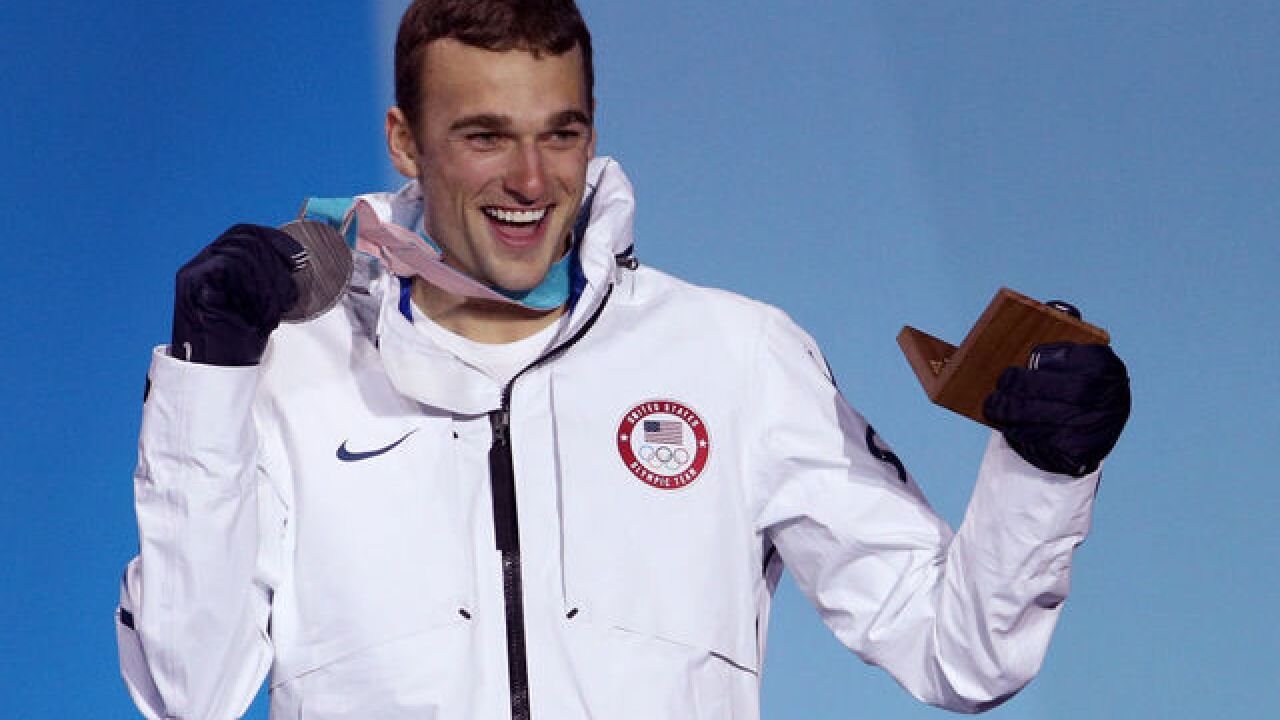 American Nick Goepper lands Olympic silver medal in slopestyle skiing