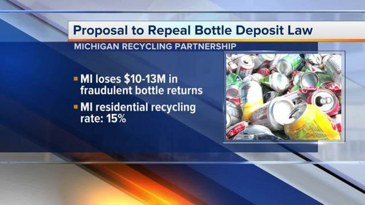 Michigan's bottle deposit law could be repealed