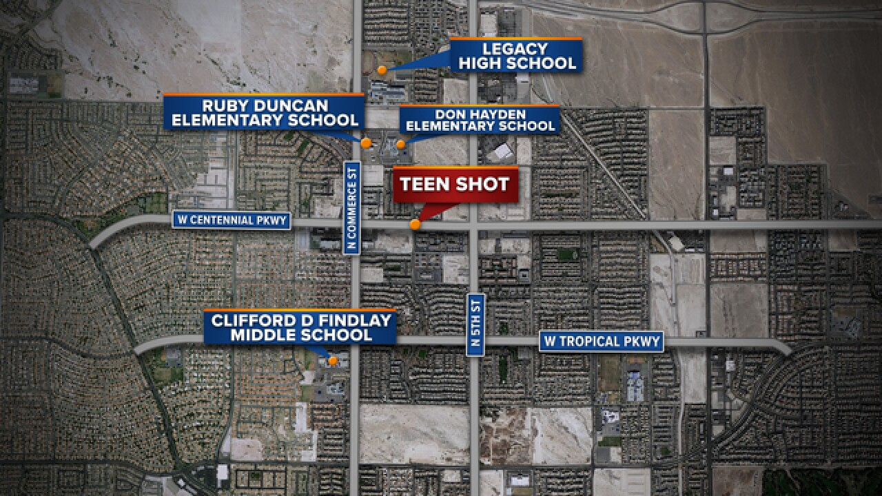 Teen critical in North Las Vegas shooting