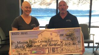 Local business donates $30K to Mission Hope Cancer Center