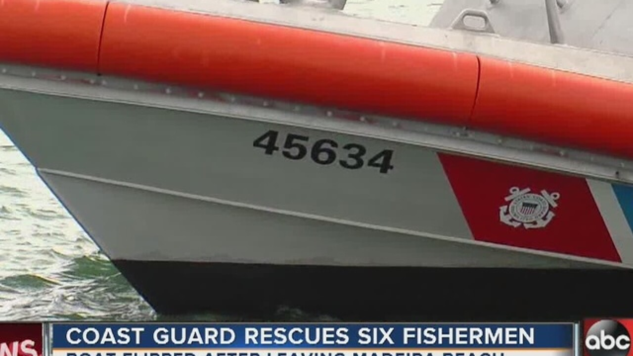 Coast Guard rescues six off Egmont Key