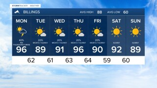 7 DAY FORECAST MONDAY AUG 3, 2020