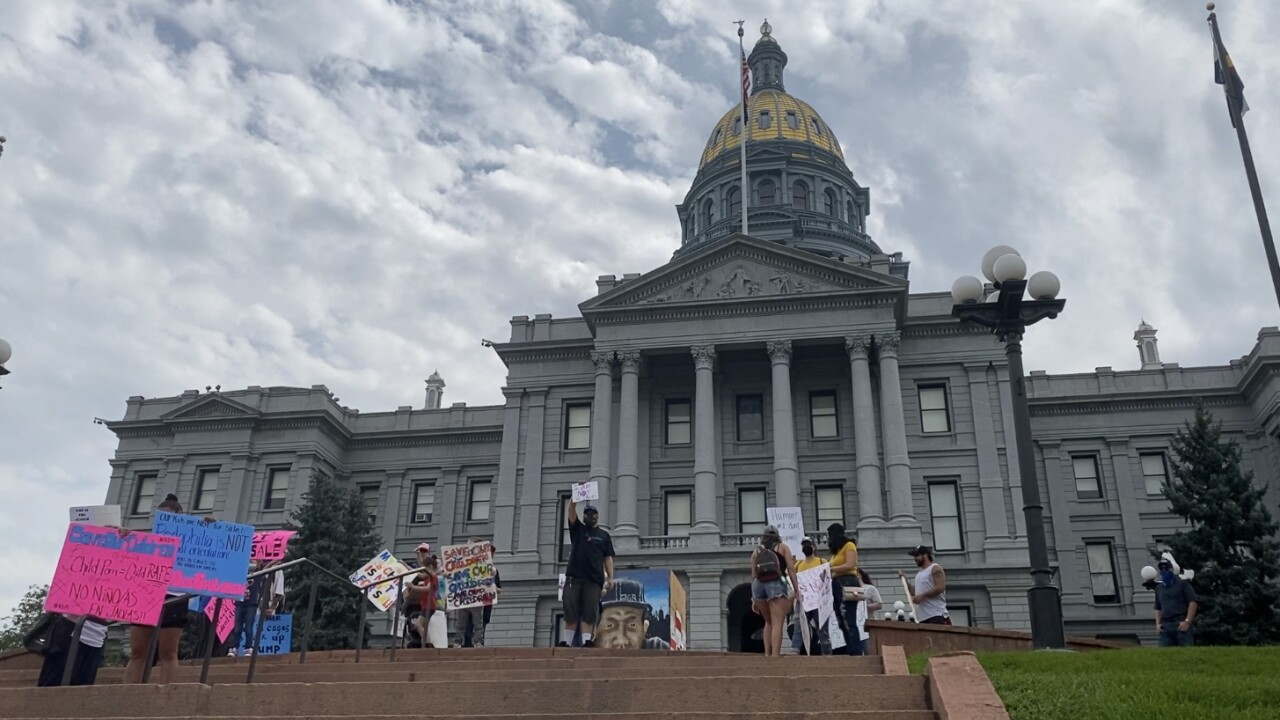 QAnon rally in Denver
