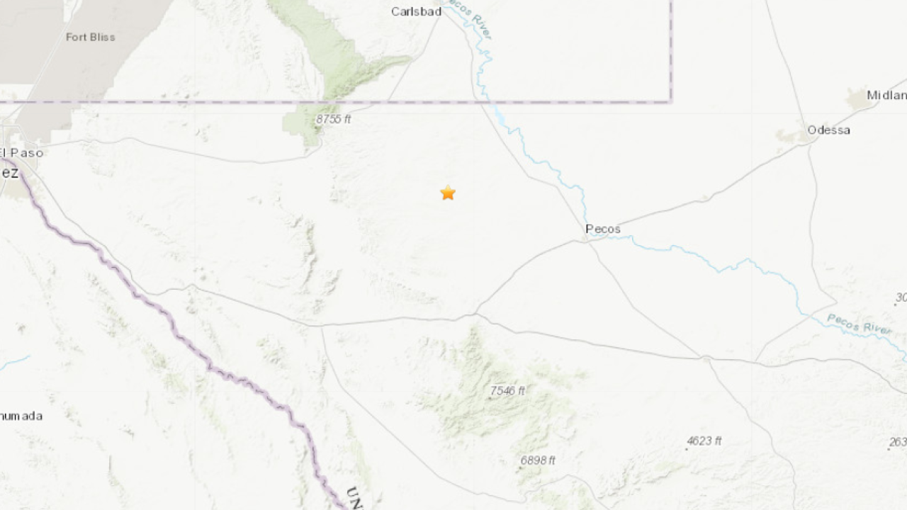 3.4 magnitude earthquake rattles west Texas