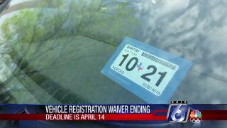 Vehicle registration waiver ending