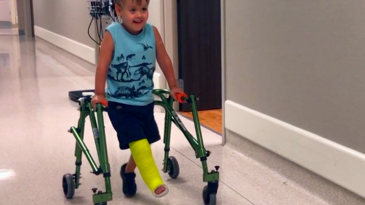 Australian boy comes to West Palm Beach for surgery to save his leg