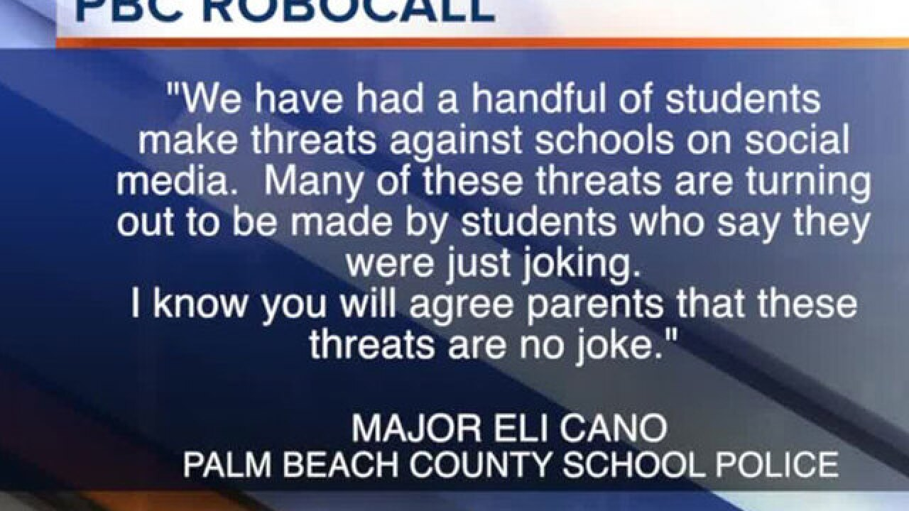 School threats prompt Palm Beach Co. robocall
