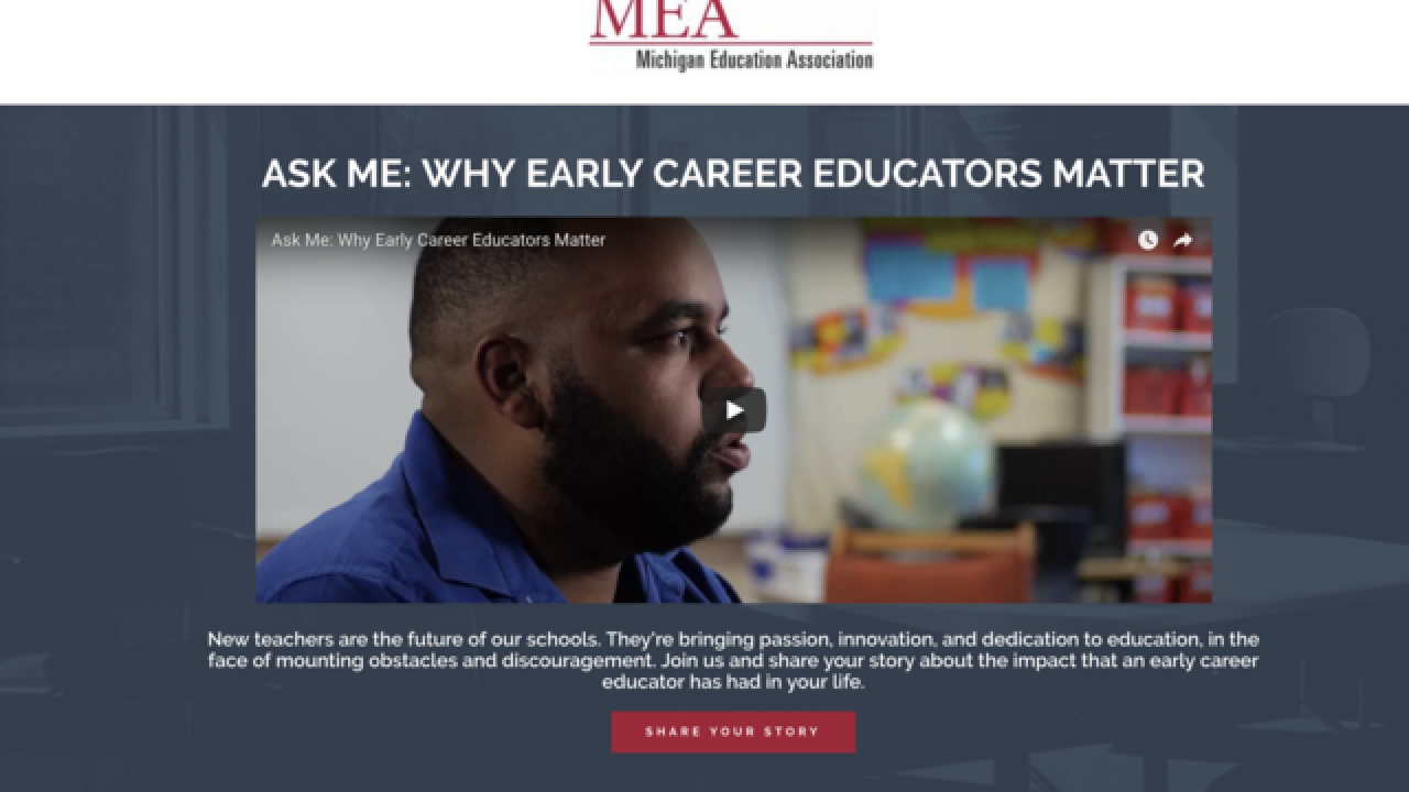 Michigan Education Association unveils new 'Ask Me' video highlighting early career educators