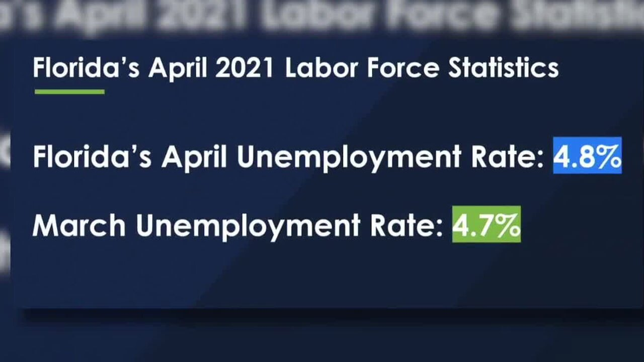 Florida Unemployment Rate in April 2021