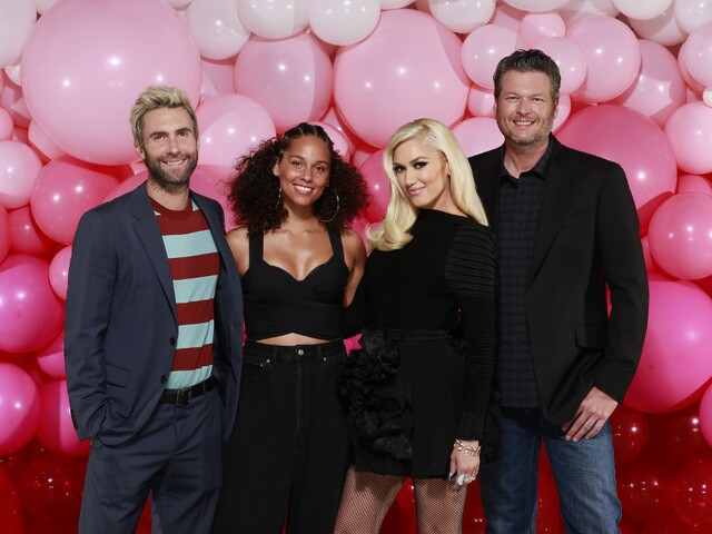 Pictures of The Voice during season 12