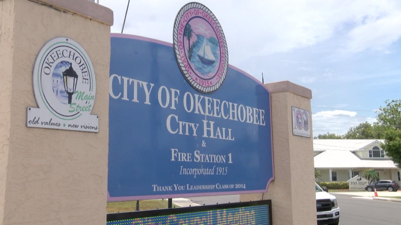 Okeechobee City Hall sign, June 3, 2021