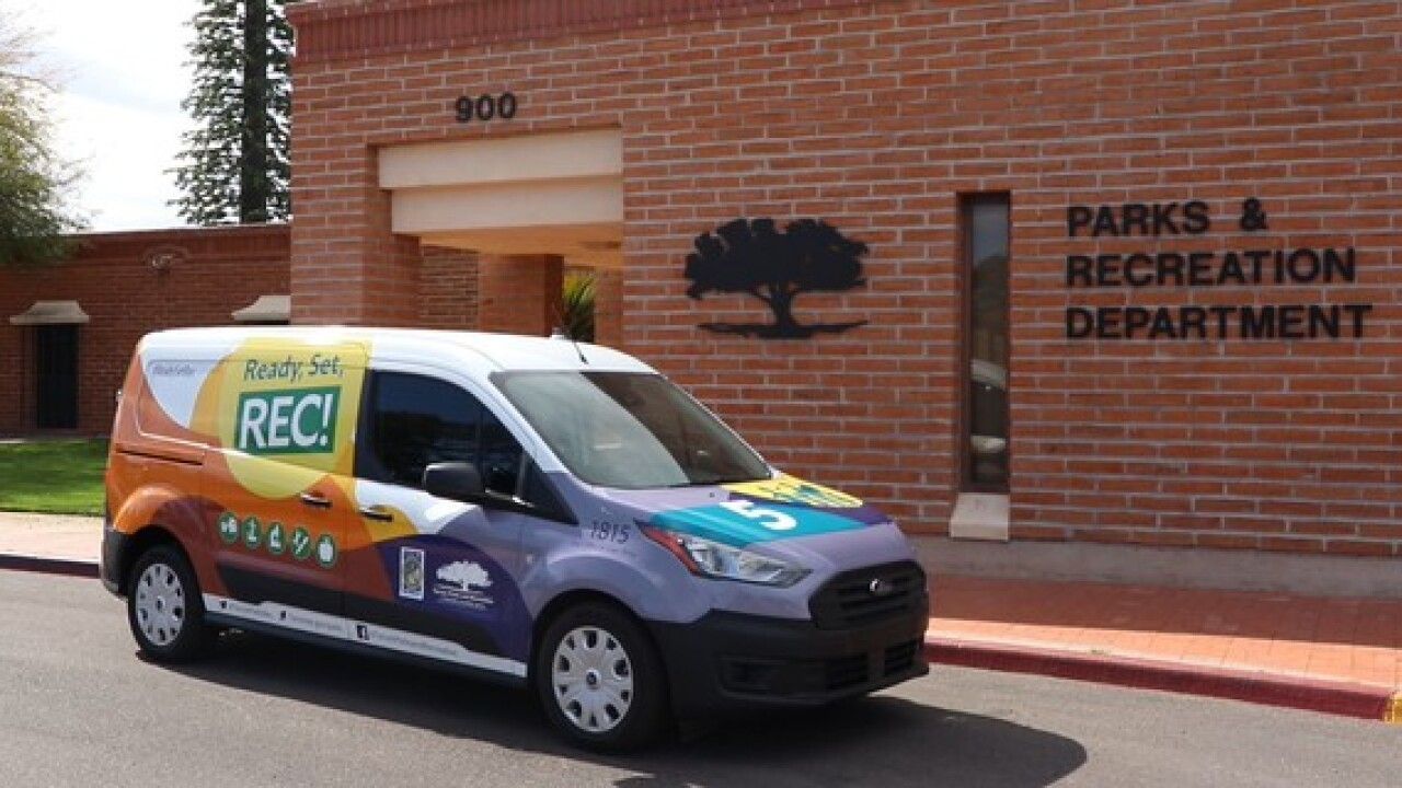 Tucson Parks and Recreation is readying its kickoff for the fall session of the Ready, Set, Rec! mobile recreation program. Photo via City of Tucson.