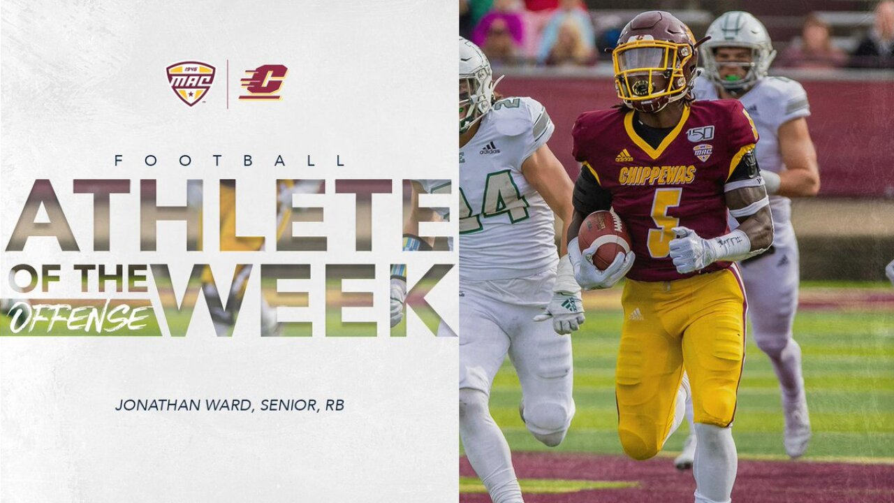 CMU's Jonathan Ward named MAC co-offensive player of the week