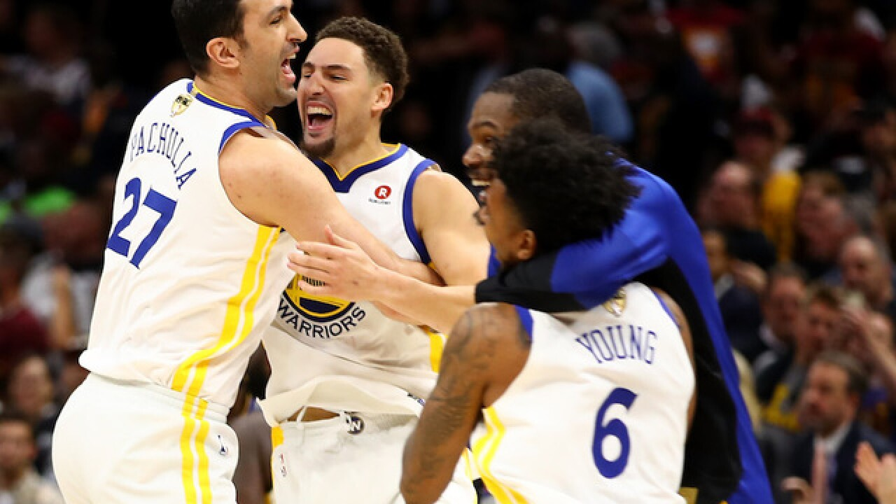 Golden State Warriors sweep NBA finals, downing Cleveland Cavaliers 108-85 in Game 4
