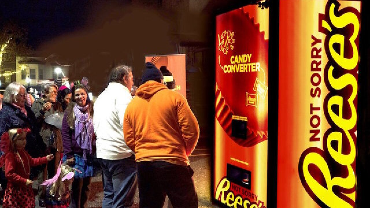 Only want Reese's on Halloween? This machine will turn all your candy into peanut butter cups