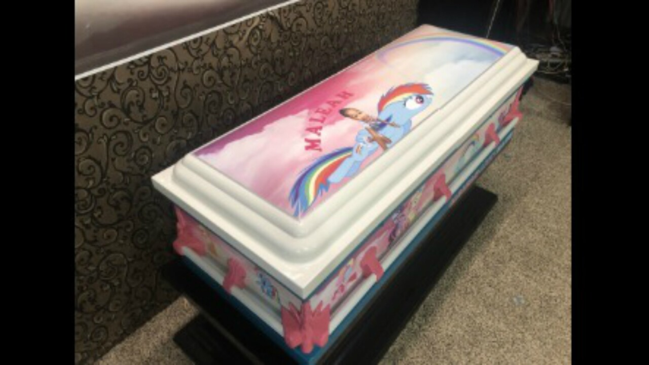 Custom 'My Little Pony' casket donated for 4-year-old Maleah Davis' funeral