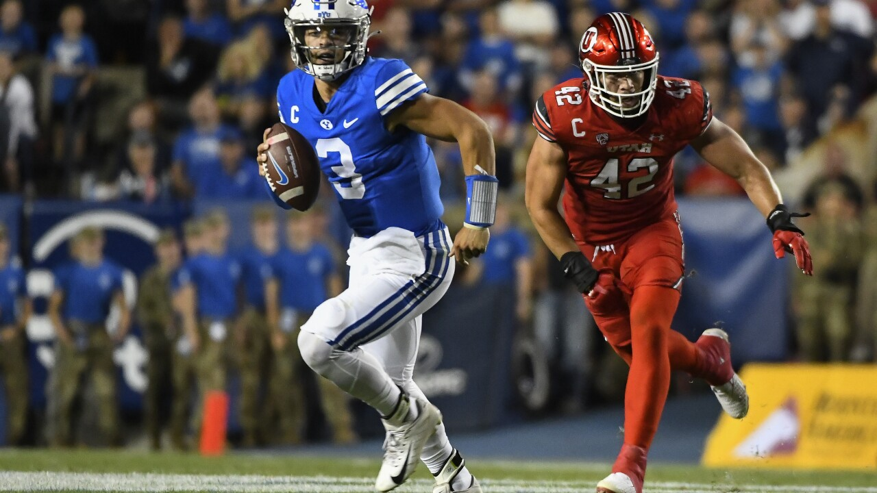 No. 19 Arizona State travels to No. 23 BYU for the first meeting between the two former Western Athletic Conference foes since Sept. 12, 1998. AP photo.
