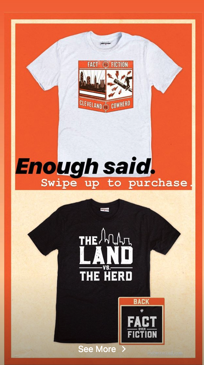 sports shoes 2df68 dd644 Baker Mayfield selling 'Cleveland vs. Cowherd,' T-shirts ...