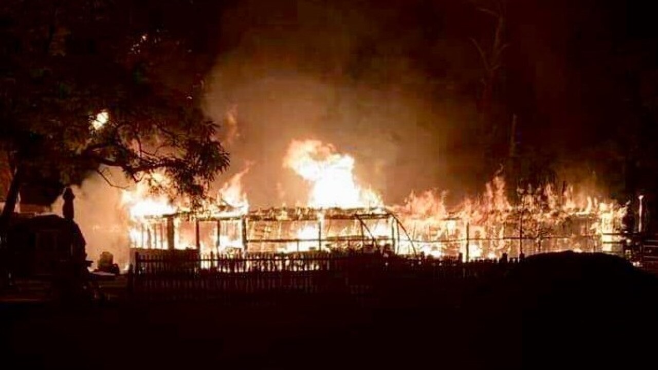 Chincoteague horse barn goes up in flames
