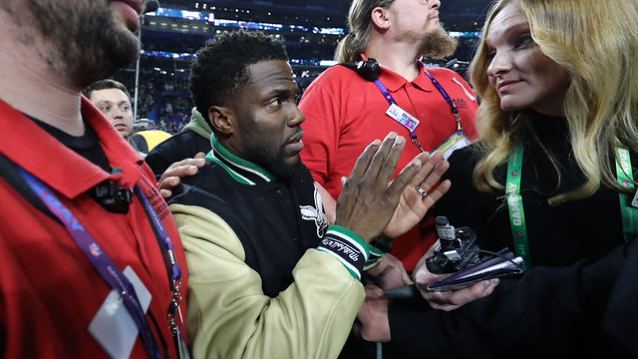 'Tipsy' Kevin Hart mocked for Super Bowl antics