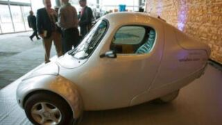 ElectraMeccanica, known for its tiny, single passenger, three-wheeled electric cars, has picked Mesa, Arizona for its U.S.-based assembly and engineering plant. AP photo.