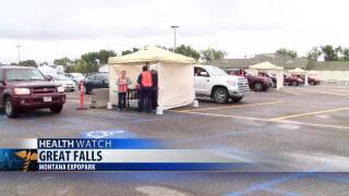 Drive-thru flu shot clinics at Montana Expo Park