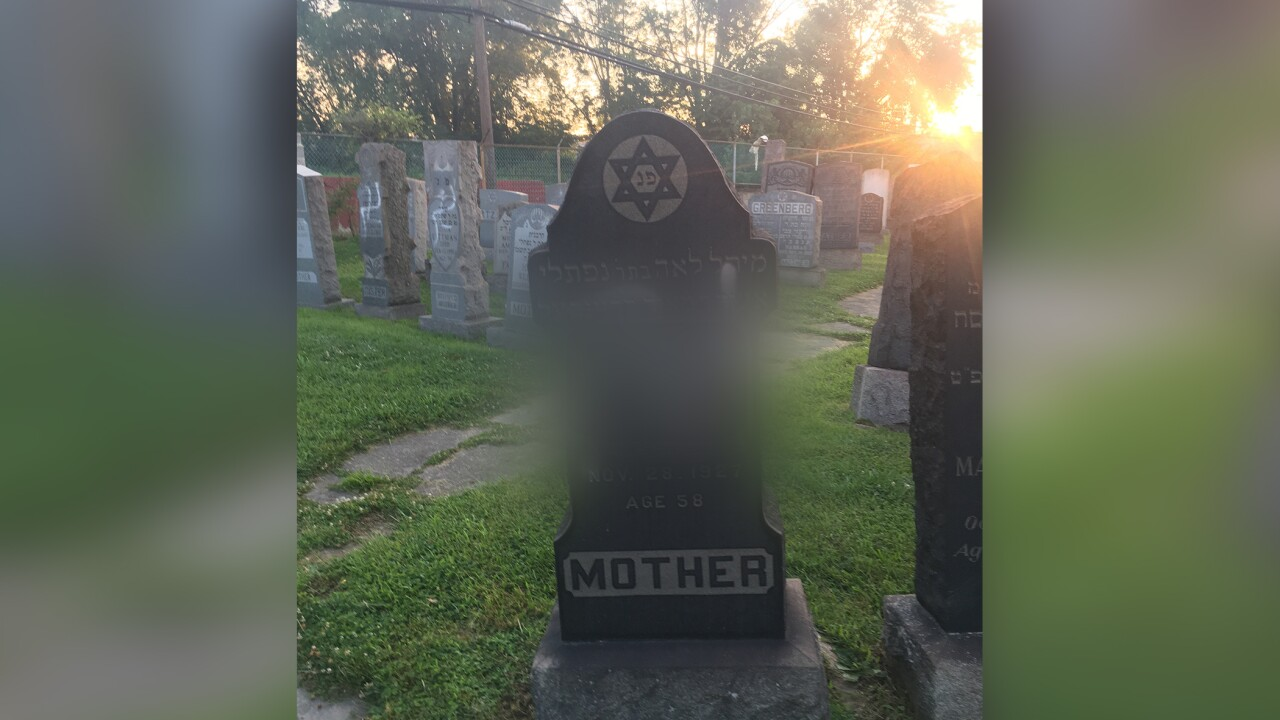 Swastikas found spray-painted on more than a dozen headstones at Jewish cemetery in Baltimore