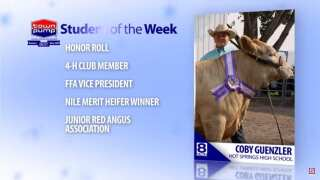 Student of the Week October 10, 2018: Coby Guenzler
