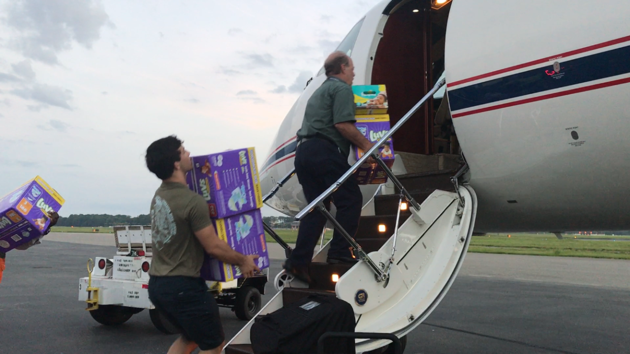 Virginia Beach foundation flies supplies to Corpus Christi for Harvey victims