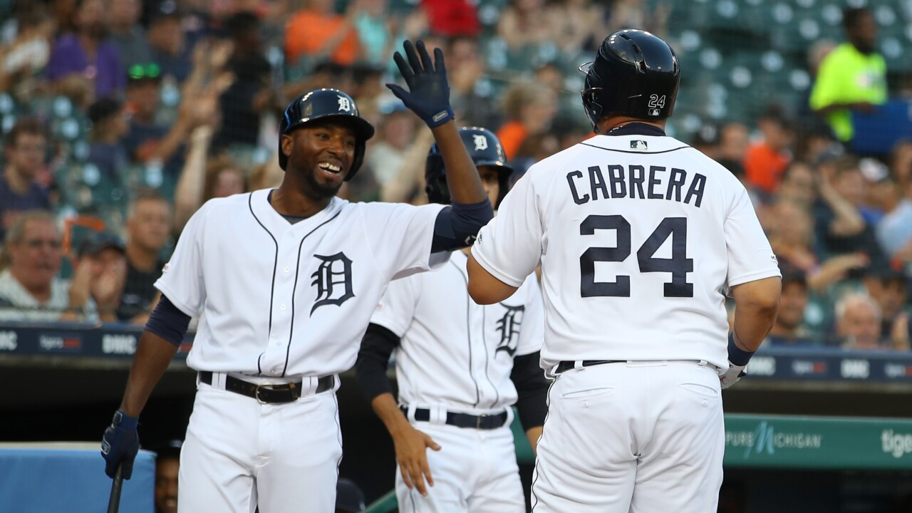 Travis_Demeritte_Miguel_Cabrera_Chicago White Sox v Detroit Tigers - Game Two