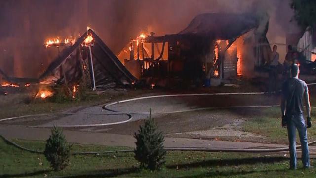 Photos: Crews Fight Fire On Blazer Road