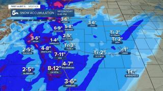 Southern Colorado snow totals