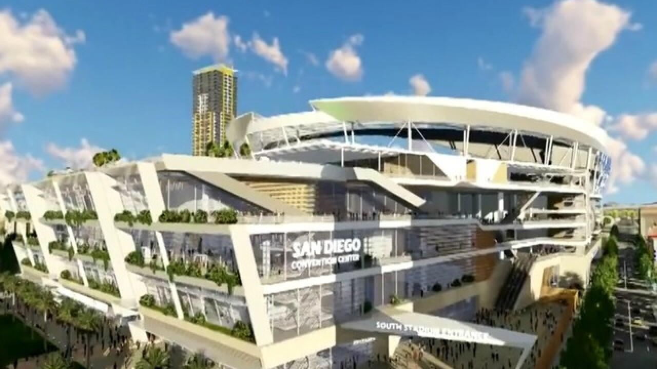 Charges release video touting stadium proposal