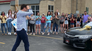 CVCA students surprise teacher