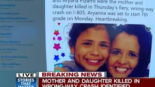 Mother and daughter killed in wrong-way crash identified