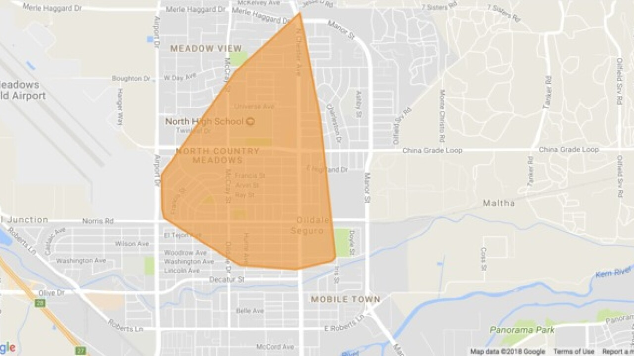 Power outage in Oildale impacting more than 2,600 customers