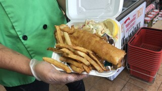 Side Door Deli's Fish Fry sells out quick, so place orders early in the week